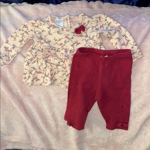 Burgundy Pants and Shirt Set